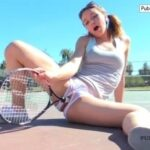 FTV Girls Horny FTV Girl fucks herself with a tennis racket on a public…