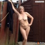 Ass flashing roast68: Naked in my garden! A bit risky as we are overlooked…
