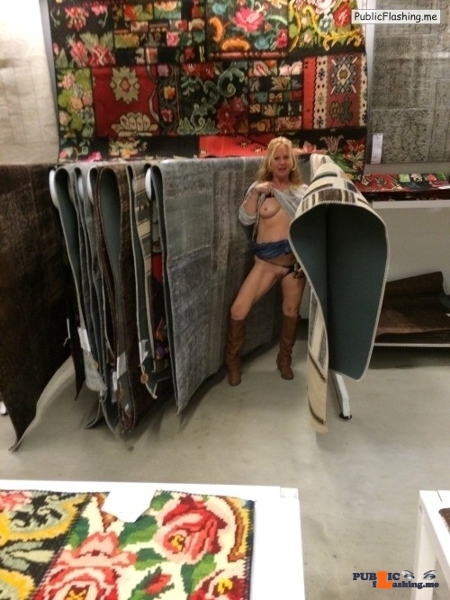 Flashing in public store Looking for some rugs that will good with her hardwood floors?…