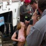 Public nudity photo nakedenfcaptions:Linda found herself naked in front of a crowd…