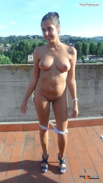 Outdoor nude selfshot Photo