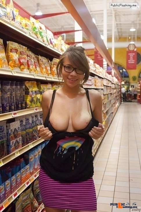 Public Flashing Photo Feed : Flashing in public store Zishy get some amazing girls to go around town and show off for…