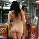 Flashing in public store You can tell this isn't in the USA because no one in the store…