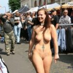Public nudity photo festivalgirls:Out for a strut Follow me for more public…