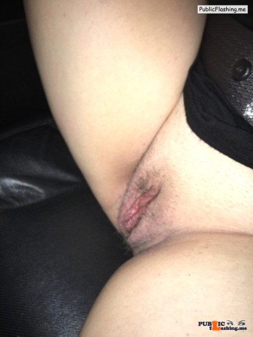 No panties a1discreetfun: On the way home from a swingers club. Wife was… pantiesless