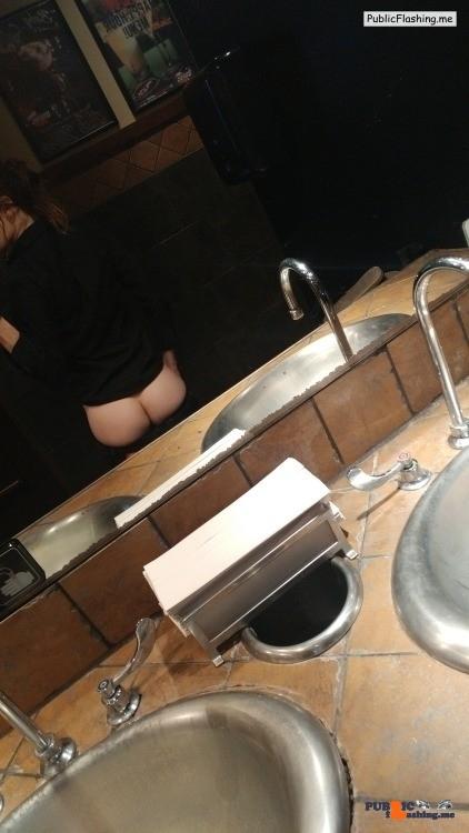 No panties deadlynightshade88: At work. pantiesless