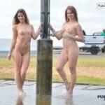 FTV Babes 2 FTV Girls get completely naked at the parking lot shower over…
