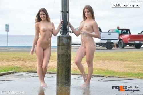 FTV Babes 2 FTV Girls get completely naked at the parking lot shower over…