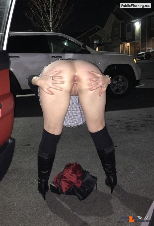 No panties sluttypublic2: Spreading pantiesless