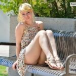 FTV Babes upskirt Shy FTV Girl gets comfy on a bench, posing for pictures. We get…