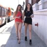 FTV Babes upskirt Two hot chicks flash the passengers on a couple of busses,…