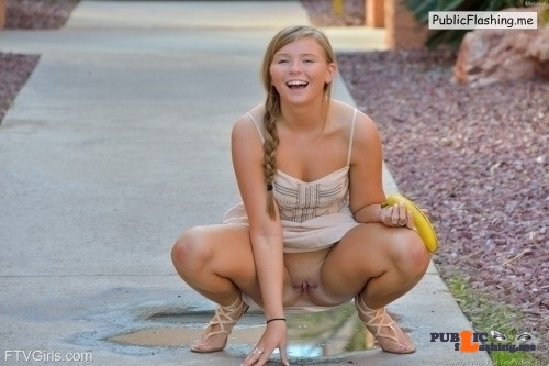 FTV Babes upskirt The way that Melissa is squatting makes you wonder about that…
