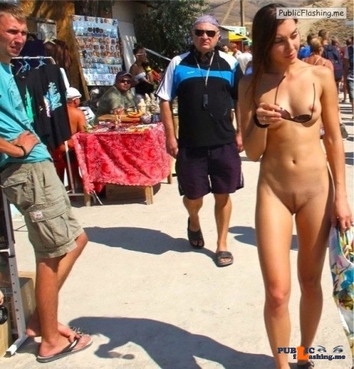 Public nudity photo yummyyuck:One man's flea market is another woman's exhibitionist…