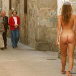 Public nudity photo yummyyuck:Liesel S. The old woman is NOT pleased. Follow me for…
