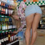Public flashing photo shoppingbabes5: Upskirt at the wine store …