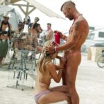 Public nudity photo public-flash2:By the parking lot at Burning Man Follow me for…