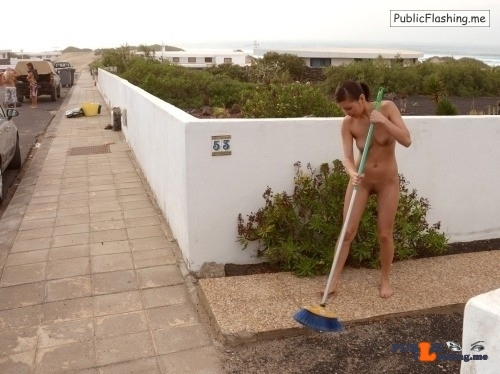 Public Flashing Photo Feed : Public nudity photo arturotik:If you're a nudist, coming out naked to sweep your…