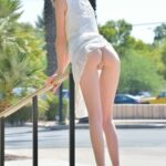 FTV Babes upskirt Long-legged Blaire gives us a long, lingering view out on the…