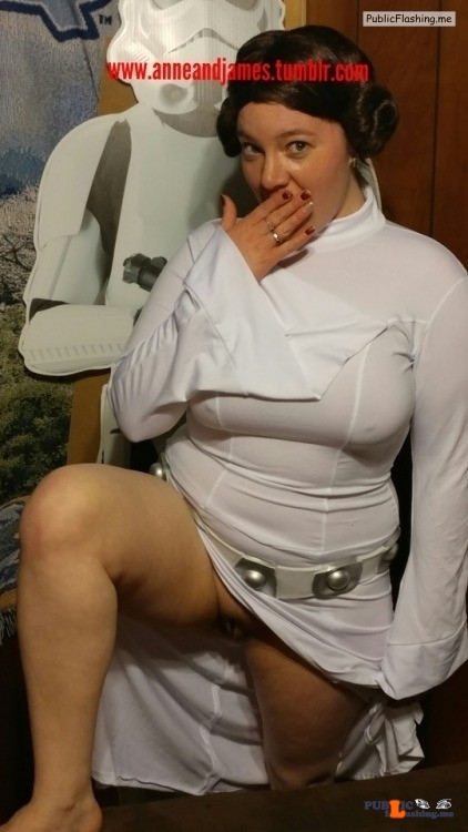 No panties anneandjames: For the star wars fans.. Hehehe ? should I go out… pantiesless