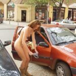 Public nudity photo girlsandsport: outdoors fully nude changing mom #fullynude…