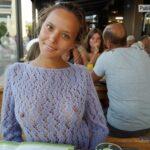 Beautiful Katya Clover in purple see trough sweater VISIBLE NIPPLES