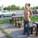 Public nudity photo exposed-on-public:The look on his face Follow me for more public…