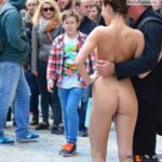 Public nudity photo exposed-on-public:Posing for a photo Follow me for more public…