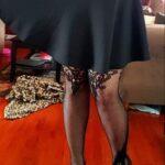 No panties apainterandadeputy: You guys like my new nylons?? ? pantiesless