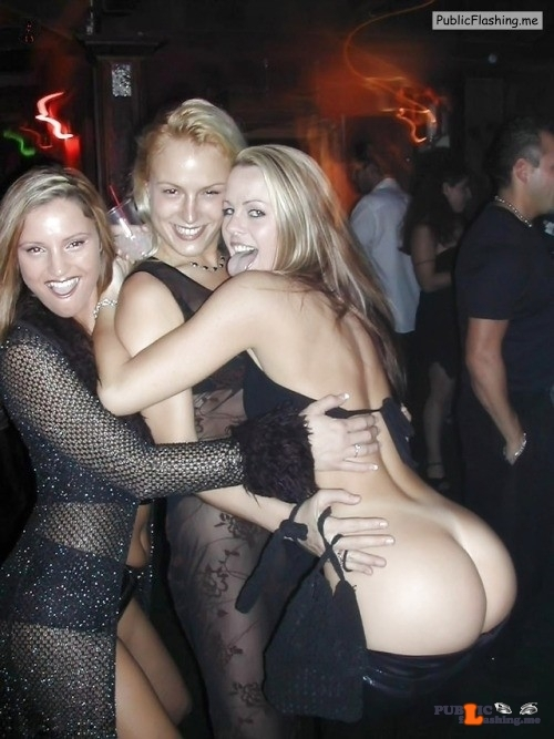 Three drunk blondes on party Big ass flashing