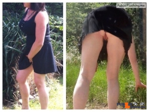 No panties 555666zzz: Out and about enjoying the weather. x pantiesless