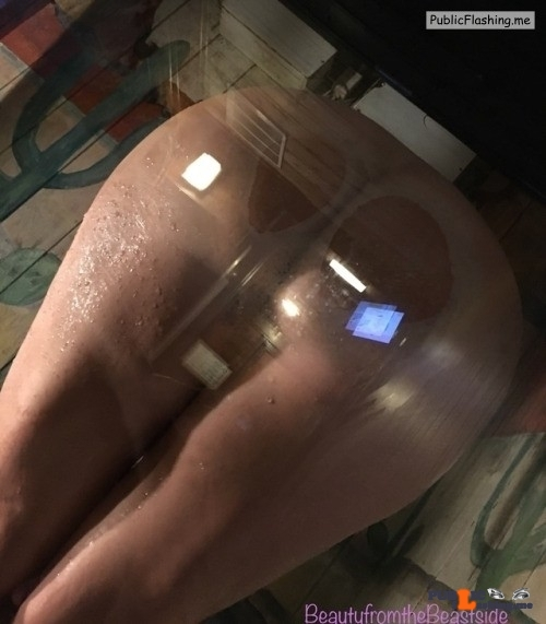 No panties beautyfromthebeastside: From behind the glass ? 25 notes and I… pantiesless