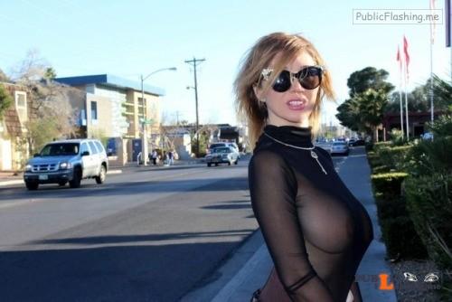 Nadeea Volianova nude in public Public Flashing