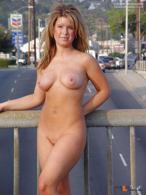 Christina Bonetpels nude on bridge Public Flashing