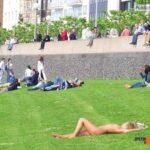 Public nudity photo enfcaptions:Linda hadn't awoken from her drunken night yet and…