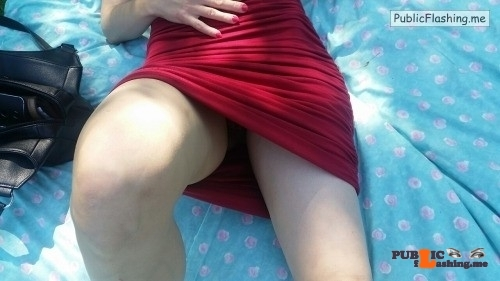 No panties ridemygirl: My girl was soooo horny in the park yesterday……She… pantiesless