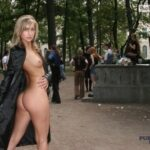 Public flashing photo thenudewalk: Beautiful women walking nude through the city. Not…