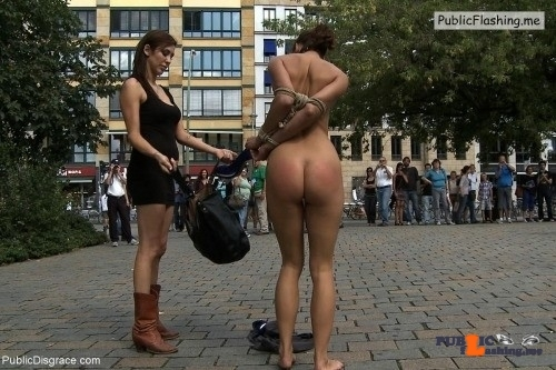 Public nudity photo kinkissx:public enslavement of a lady Follow me for more public…
