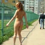 Public nudity photo kinkissx:slave woman coming back home Follow me for more public…