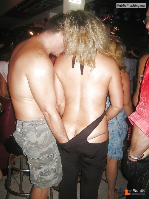 Public Flashing Photo Feed : Public nudity photo carelessnaked:In a party and showing her naked back and…