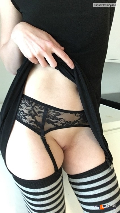 No panties amateur-naughtiness: If only someone were to find out my little… pantiesless