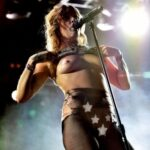 Flashing in public photo nudeandnaughtyflashing:Tove Lo flashing during her performance…