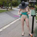 Public nudity photo miaexhib:More flashing in Montjuic park in Barcelona Follow me…