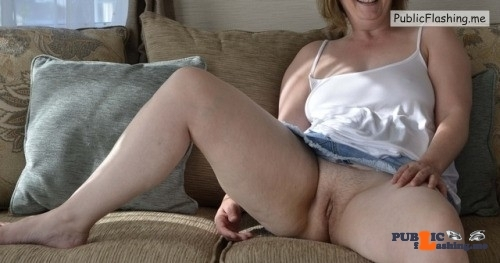 No panties Another submission from Stephen. I hope she goes shopping or to… pantiesless