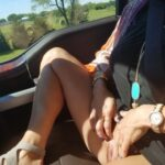 No panties nakedlkb: On the way to lunch with my baby and got a little… pantiesless