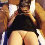 No panties Commando reading pantiesless