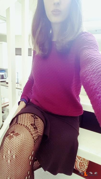 No panties bodyartblank: 5th no panties day? fishnet stockings for the... pantiesless Public Flashing