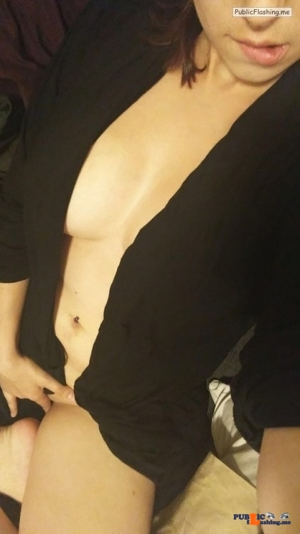 Public Flashing Photo Feed : No panties sanitynicole: Who wants me to pull this shirt to the… pantiesless