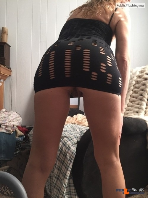 No panties randy68: I like the little black dress but it was a little cold… pantiesless