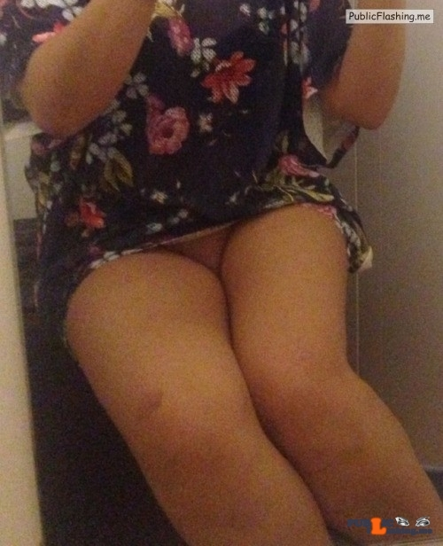 Public Flashing Photo Feed : No panties hottysjourney: Still waiting for a table but I drunk too much… pantiesless
