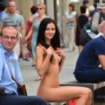 Public nudity photo thelifeoftami: The fact that she was totally naked once more…